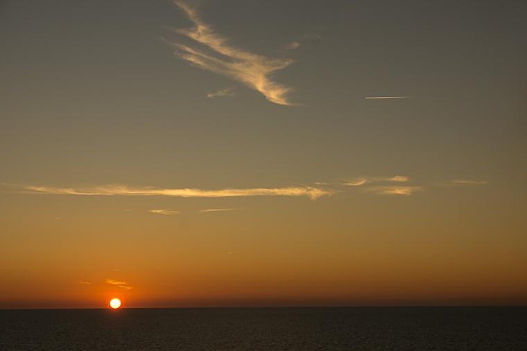 Sonne auf der Nordsee