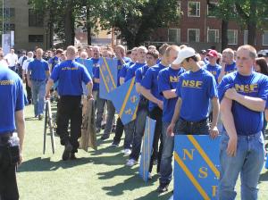 Nationalsocialistisk front, Svenskarnas partis föregångare, samling inför Folkets marsch i Vasaparken i Stockholm i början av juni 2007. Foto: Anna-Lena Lodenius